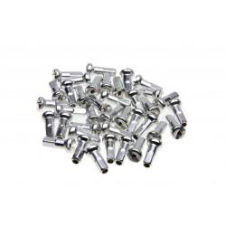 Ecrous de rayon WHEELSMITH Aluminium 14G Argent 16 mm (par 50)