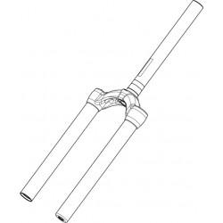 Pivot/Té/Plongeurs MANITOU Circus Comp 80/100 mm Noir Aluminium