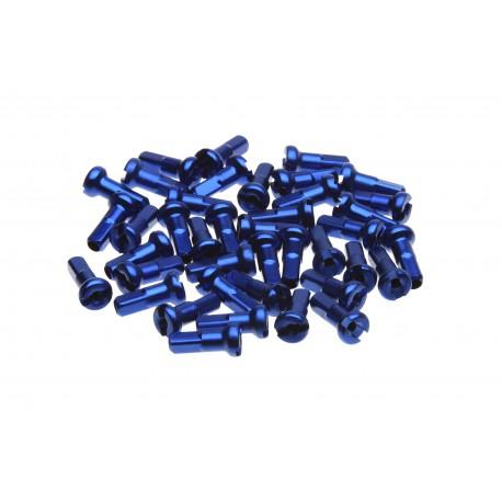Ecrous de rayon WHEELSMITH Aluminium 14G Bleu 12 mm (par 50)