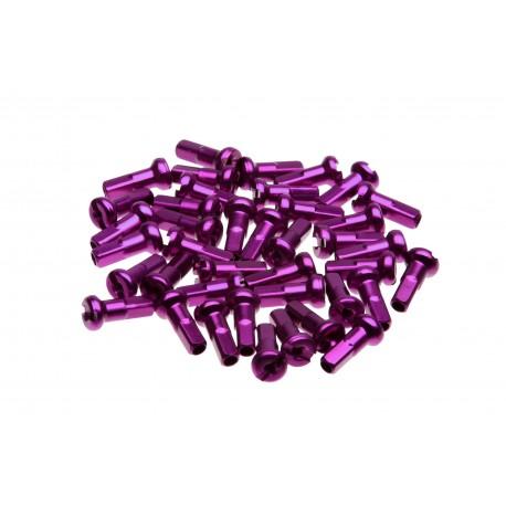 Ecrous de rayon WHEELSMITH Aluminium 14G Violet 12 mm (par 50)