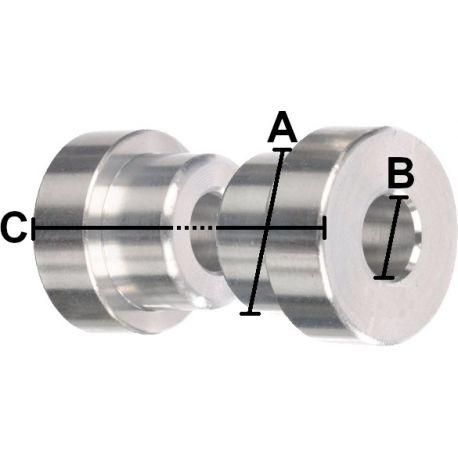 Entretoises d'amortisseur MANITOU 12.7 x 8.0 x 37.4 mm